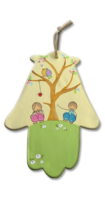תמונה של זוג ילדים - עץ
