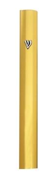 תמונה של בית מזוזה מאלומיניום עם תבליט (זהב)