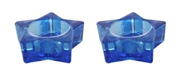 """תמונה של זוג פמוטים לשבת מזכוכית """"כוכב"""""""