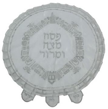 """תמונה של כיסוי מצה מבד עם ריקמה מהודרת """"ירושלים העתיקה"""""""