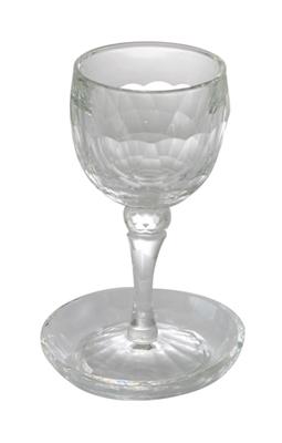 תמונה של גביע קידוש ותחתית מהודרים מקריסטל