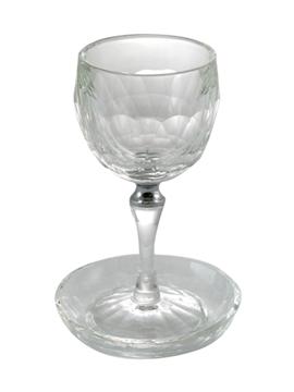 """תמונה של גביע קידוש ותחתית מקריסטל """"טבעת כסף"""""""