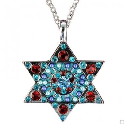 תמונה של שרשרת מגן דוד (צבעוני) - יאיר עמנואל