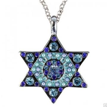 תמונה של שרשרת מגן דוד (כחול) - יאיר עמנואל