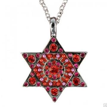 תמונה של שרשרת מגן דוד (אדום) - יאיר עמנואל