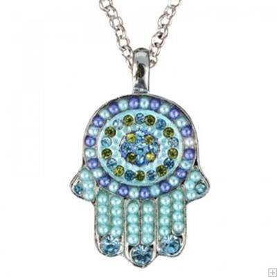 תמונה של שרשרת חמסה קטנה (כחול) - יאיר עמנואל