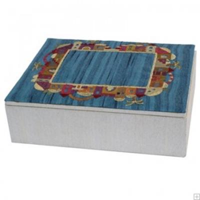 """תמונה של קופסת תכשיטים רקומה """"ירושלים העתיקה"""" - יאיר עמנואל"""