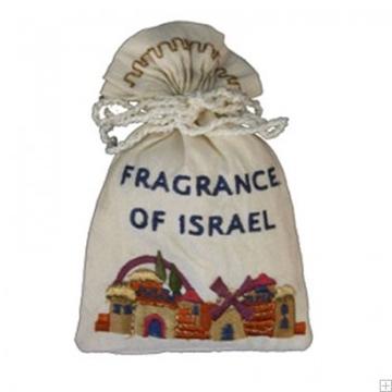 """תמונה של שקית בשמים ממשי רקום להבדלה """"ירושלים העתיקה"""" - יאיר עמנואל"""