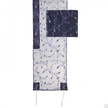 תמונה של סט טלית אורגנזה ריקמה מלאה (כחול) - יאיר עמנואל