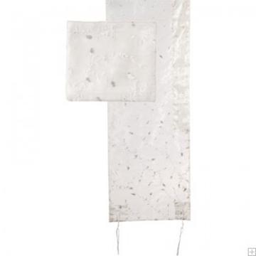 תמונה של סט טלית אורגנזה ריקמה מלאה (לבן) - יאיר עמנואל