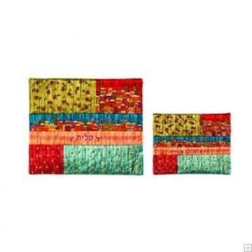 """תמונה של תיק לטלית ותפילין עם ריקמה """"ירושלים העתיקה"""" (אדום וצהוב) - יאיר עמנואל"""