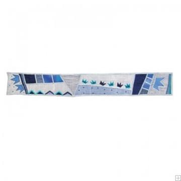 """תמונה של עטרה לטלית ממשי פראי """"כתר"""" (כחול) - יאיר עמנואל"""