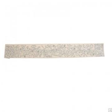 תמונה של עטרה רקומה בעבודת יד לטלית בסגנון אוריינטלי (כסף) - יאיר עמנואל