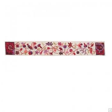 תמונה של עטרה רקומה בעבודת יד לטלית בסגנון אוריינטלי (אדום) - יאיר עמנואל