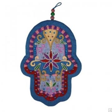 תמונה של חמסה רקומה ממשי עם קריסטלים בסגנון אוריינטלי - יאיר עמנואל