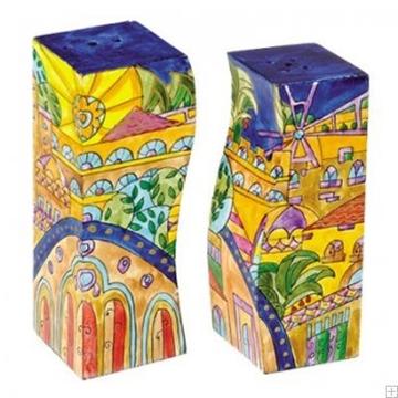 """תמונה של מלחיה ופלפליה מעץ """"ירושלים העתיקה - אוריינטלי"""" - יאיר עמנואל"""