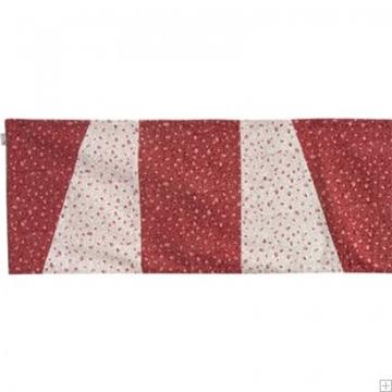 תמונה של ראנר לשולחן ממשי (אדום ולבן) - יאיר עמנואל