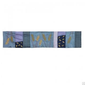 """תמונה של ראנר לשולחן ממשי פראי """"חיטה"""" (כחול) - יאיר עמנואל"""