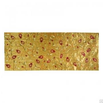 """תמונה של ראנר לשולחן ממשי פראי עם ריקמה """"רימונים"""" (זהב) - יאיר עמנואל"""