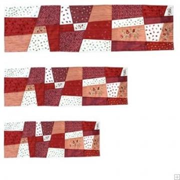 """תמונה של ראנר לשולחן ממשי פראי עם ריקמת טלאים """"רימונים"""" (אדום) - יאיר עמנואל"""