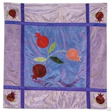 """תמונה של מפה לשולחן ממשי פראי """"רימונים"""" (מרובע - כחול) - יאיר עמנואל"""