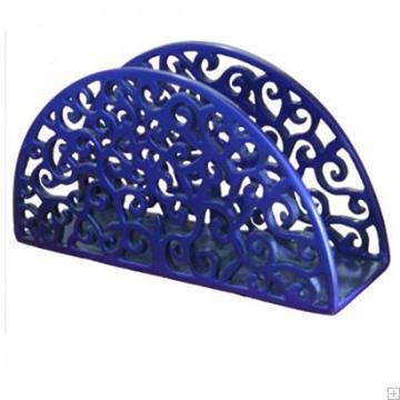 תמונה של מחזיק מפיות מאלומיניום חצי עיגול בסגנון אוריינטלי (כחול) - יאיר עמנואל