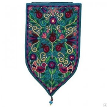 תמונה של שטיח קיר מגן סגנון אוריינטלי (טורקיז) - יאיר עמנואל