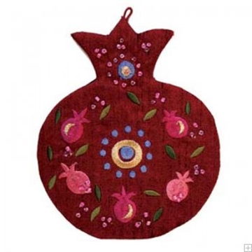 תמונה של קישוט קיר בצורת רימון (אדום)  - יאיר עמנואל