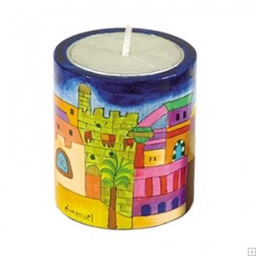 """תמונה של תושבת לנר זיכרון מעץ """"ירושלים העתיקה"""" - יאיר עמנואל"""