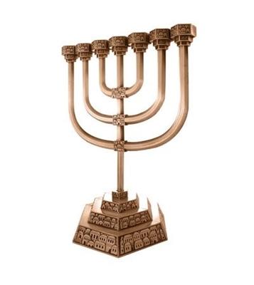 """תמונה של מנורה מנחושת """"ירושלים העתיקה"""""""