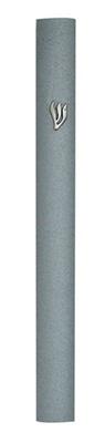 תמונה של בית מזוזה מאלומיניום עם נקודות ותבליט (אפור)