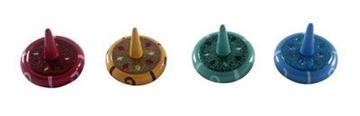 תמונה של סביבונים מזכוכית בתפזורת צבעים שונים (4 דוגמאות)