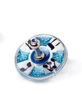 תמונה של סביבון מזכוכית אקרילית (כחול) - לילי אומנות