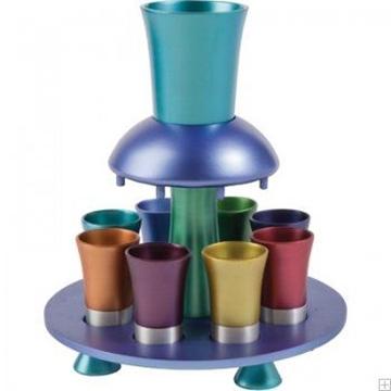 תמונה של מזרקת יין לקידוש מאלומיניום (צבעוני) - יאיר עמנואל