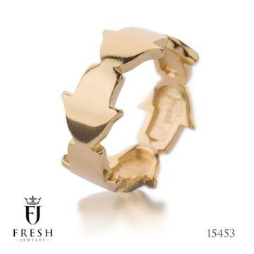 """תמונה של טבעת מגולדפילד """"חמסות מחוברות"""" - Fresh Jewelry"""