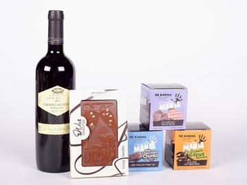 תמונה של מארז שוקולד ויין