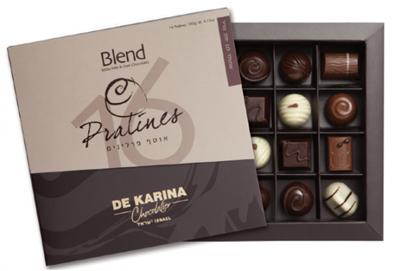תמונה של BLEND 16 פרלינים בעבודת יד שוקולד חלב, מריר ולבן