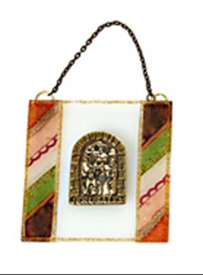 """תמונה של ברכה מזכוכית """"ירושלים העתיקה"""" (צבעוני) - לילי אומנות"""