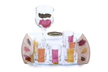 """תמונה של סט יין גדול """"רימונים"""" (סגול) - לילי אומנות"""