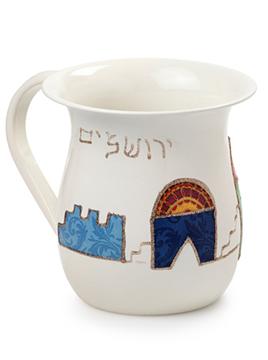 """תמונה של נטלה גדולה """"ירושלים"""" (כחול) - לילי אומנות"""