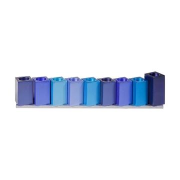 תמונה של חנוכיה קוביות מאלומיניום (כחול) - יאיר עמנואל
