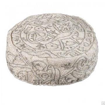 """תמונה של כובע רקום בעבודת יד """"ציפורים"""" (כסף) - יאיר עמנואל"""