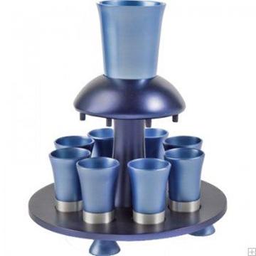 תמונה של מזרקת יין לקידוש מאלומיניום (כחול) - יאיר עמנואל