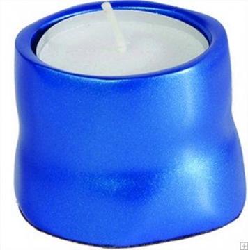 תמונה של תושבת לנר זיכרון מאלומיניום (כחול) - יאיר עמנואל