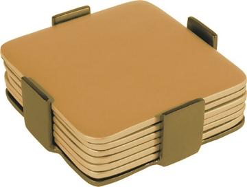 תמונה של שש תחתיות מאלומיניום (זהב) - יאיר עמנואל