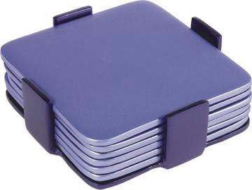 תמונה של שש תחתיות מאלומיניום (כחול) - יאיר עמנואל