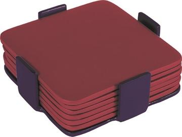תמונה של שש תחתיות מאלומיניום (אדום) - יאיר עמנואל
