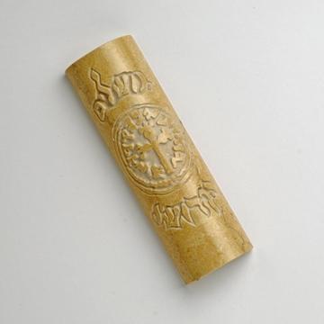 """תמונה של בית מזוזה מאבן ירושלמית """"מטבע רימון"""" - קיסריה ארט"""