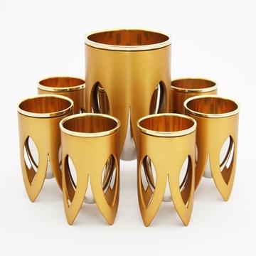 תמונה של סט קידוש מניקל וזהב 24 קראט (זהב) - קיסריה ארט