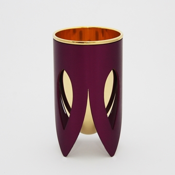 תמונה של גביע קידוש מניקל וזהב 24 קראט (סגול) - קיסריה ארט